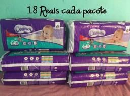 Fraldas descartáveis 18 reais