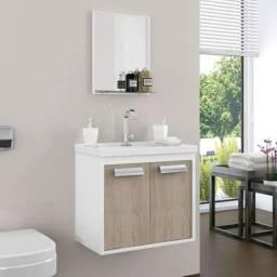 Conjunto armário para banheiro rigel com pia DFX562