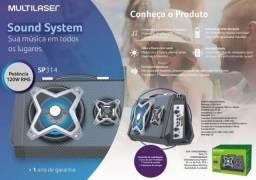 Caixa De Som C/ Led Bluetooth System Sound 120w Sp314