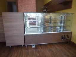 Balcões vitrine estufa de salgados,balcões refrigerados de tortas,doces,bolos