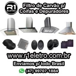 Filtro de Carvão p/ Coifas e Depuradores várias marcas ( entrega a domicílio )