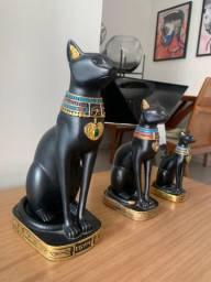 3 estátuas Deusa Egípcia Bastet
