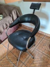 Cadeira para salão de beleza + carrinho auxiliar