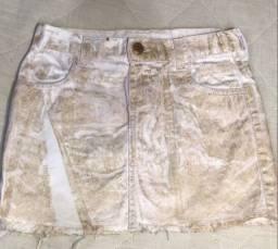 Saia jeans feminina infantil
