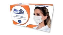 Máscara tripla com elástico Medix c/ 50 unidades