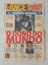 Raridade. Jornal Lance. O Dono do Mundo. 15/1/2000. Completo