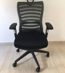 Cadeira Diretor Executiva Reclinável Escritório Home Office Tela Mesh Preta Ergotek Nova