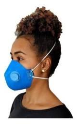 Kit 50 Máscaras Descartáveis Respirador Tipo N95 +válvula