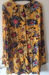 Vestido Curto Estampado (tam P) | Com etiqueta