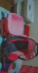 Banheira rosa + bb conforto rosa