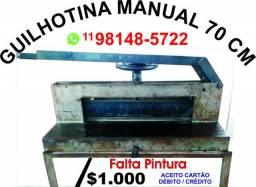 Guilhotina Manual - 70 cm - Falta Pintura - Whats *