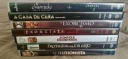 IMPERDÍVEL: Lote de 8 DVDs originais e novos. SUSPENSE/TERROR (BARATO)(ITAJAÍ)