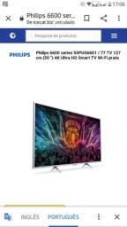 """TV Philips 4k 50"""" nova(leia antes de perguntar)"""
