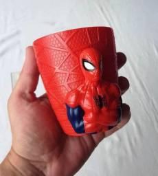Colecionável - Brinde Lacta - Caneca de Plástico Rígido- Spider-Man