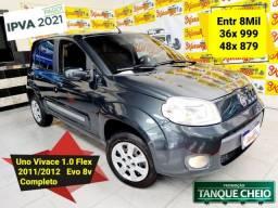 Título do anúncio: Fiat Uno Vivace Evo 1.0 Flex 2012 Completo