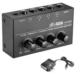 Título do anúncio: Ha400 Mini Amplificador De Áudio com 4 Canais