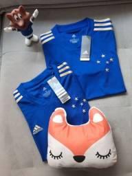 KIT - Camisa Masculina e Feminina Cruzeiro Centenário