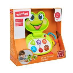 Laptop Brinquedo Baby Sapinho Infantil Com Sons E Luzes