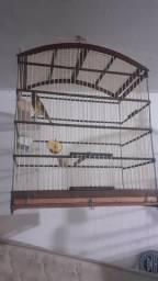 Vende-se uma gaiola seme nova 42 centímetros de largura 50 de altura R$ 70.00reais