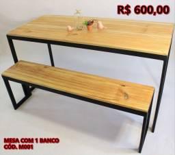 Mesa com 1 banco