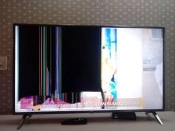 """Smart tv 50"""" LG com tela quebrada"""