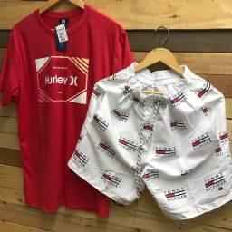 Camiseta e short por R$ 50 no dinheiro
