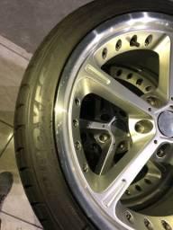 Rodas 19 Ac Schnitzer 5x120 pneus Toyo T1R