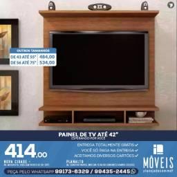 Painel de tv cor madeirada e preto 100% MDF. Entrega grátis!