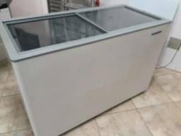 Título do anúncio: Freezer  gelopar tampo de vidro 400 litros