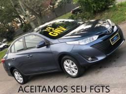 Título do anúncio: yaris sedan lx 1.5 + completo + manual + ( otimo uber )