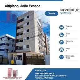 Título do anúncio: Apartamento para Venda em João Pessoa, Altiplano Cabo Branco, 3 dormitórios, 1 suíte, 2 ba
