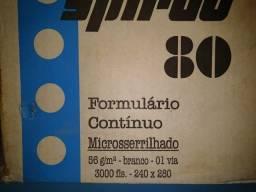 Título do anúncio: Formulário Contínuo Matricial Branco Micro Serrilhado 3000 Folhas