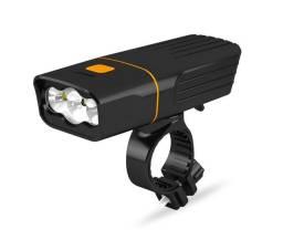 Farol De Bicicleta 1000 Lúmens 3 Led T6 Power Bank / Bateria