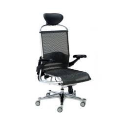Cadeira Presidente Tela Preta Escritório Home Office Giratória Nova
