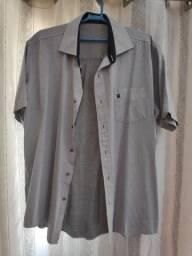 camisa cinza manga curta baumgartem