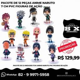 Coleção 12 Miniaturas Naruto Action Figure