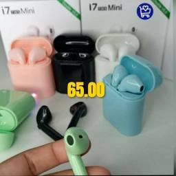 Fone Bluetooth i7 valor 65.0