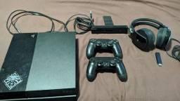 "Vendo PS4 Fat 500gb + acessórios + Tv Aoc 40"""