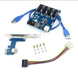 Placa Multiplicador PCI-e P/ Mineração
