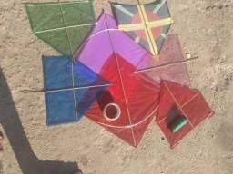 Pipas quadradas e papagaios