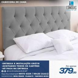 Título do anúncio: Cabaceira de Cama  Capitonê Cinza - Direto da fabrica