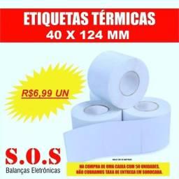 Etiqueta Térmica para Balanças 40x124 Branca (Tabela Nutricional) cx com 50 rolos