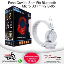 Fone de ouvido B05 bluetooth - card - rádio