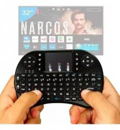 Mini Teclado Controle Sem Fio Smart Tv Ps Pc Android C/ Led