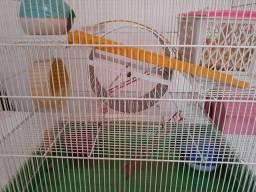 Gaiola grande e espaçosa para hamster