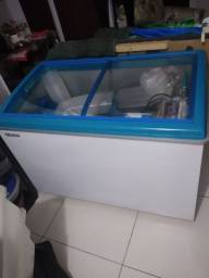 Freezer tampo de vidro espositor