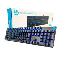 Título do anúncio: teclado gamer usb mecanico switch blue gk400f led azul chumbo