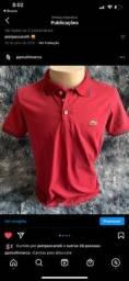 camisa masculina polo vermelha