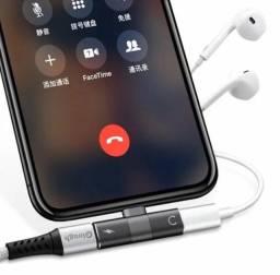 Adaptador Iphone para fone e carregador ao mesmo tempo