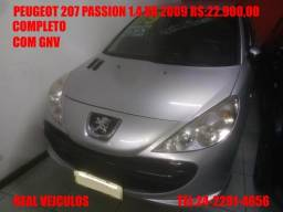 Peugeot 207 Passion XR 1.4, 2009, Com gnv, muito novo, aceito troca e financio - 2009